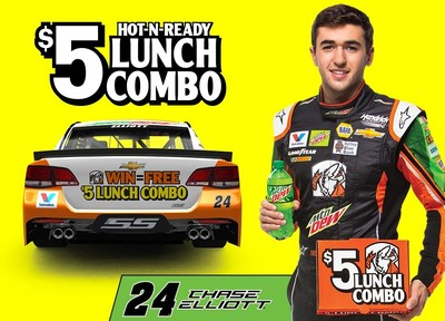Free $5 Lunch Combo if Chase Elliott Wins on April 23