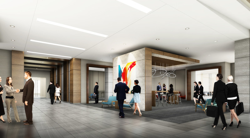 One Bethany at Watters Creek Lobby Rendering
