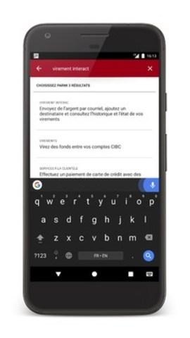 La Banque CIBC lance des fonctions à commandes vocales intégrées à son application pour simplifier la navigation à partir d'un appareil mobile (Groupe CNW/Banque CIBC)