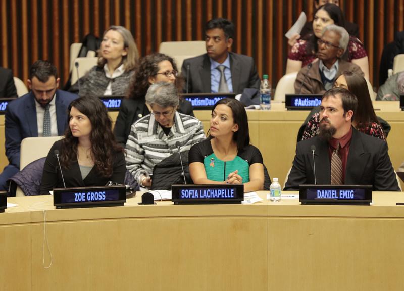 Sofia Lachapelle (middle)_World Autism Awareness Day 2017; Photo credit Luiz Rampelotto_EuropaNewswire