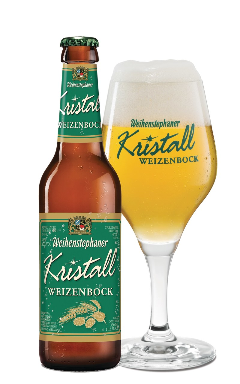 Kristallweizenbock, 7.5% ABV from the World's Oldest Brewery, The Bavarian State Brewery Weihenstephan.