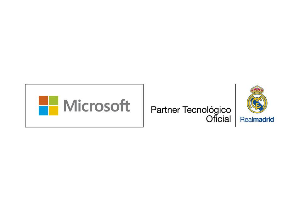 Microsoft Real Madrid Partnership logo (PRNewsFoto/Microsoft)