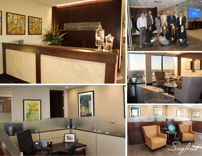 The Siegfried Group, LLP is pleased to announce the recent opening of its new Charlotte, North Carolina office space in the Bank of America Plaza at 101 South Tryon Street. Situated on the 28th floor, the modern office space offers both mountain and city views.
