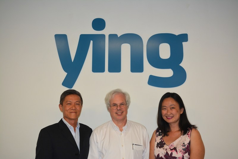 (from L to R) - Allan Tan, managing partner, Ying Communications, a Finn Partners Company; Peter Finn, founding partner, Finn Partners; and Ying Chin Yeap, managing partner, Ying Communications, a Finn Partners Company.