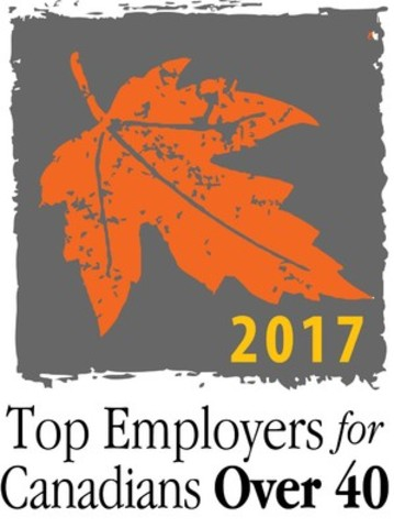 2017 Top Employers for Canadians Over 40 (CNW Group/Mediacorp Canada Inc.)