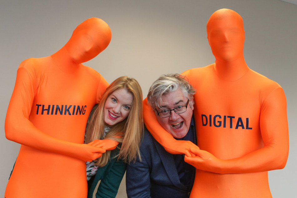 Digital Skills Academy founder Paul Dunne pictured alongside recent graduate Anna Lonergan, Product Owner at Aviva (PRNewsFoto/Digital Skills Academy)