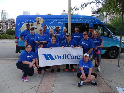 Twenty WellCare associates volunteered at the Southeastern Guide Dogs Tampa Walkathon at Cotanchobee Fort Brooke Park in Tampa on April 1, 2017.