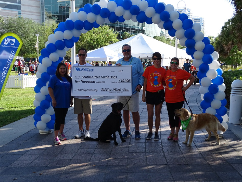 WellCare donated $10,000 to Southeastern Guide Dogs to support efforts to train guide dogs and service dogs for people living with significant challenges, including individuals with visual impairments and veterans with post-traumatic stress disorder.