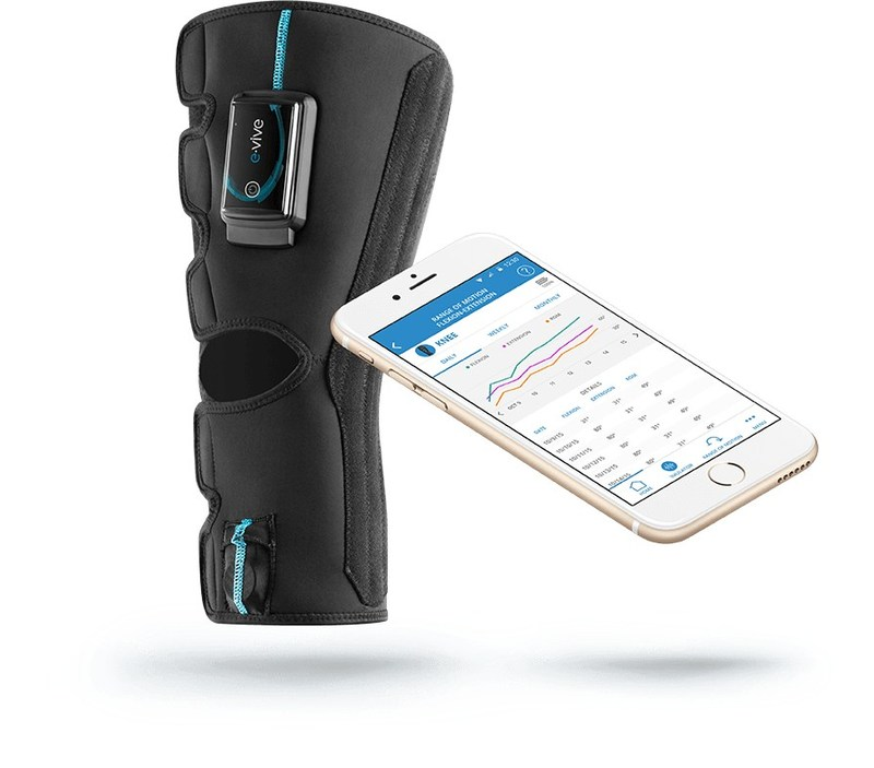 Designed to deliver wireless, app-controlled muscle stimulation therapy individualized for each patient's comfort and convenience, e-vive helps keep patients engaged with their rehab by tracking their progress and allowing data sharing with clinicians.