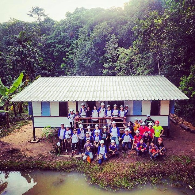 USANA True Health Foundation builds a home for a family in Serandah Village, Malaysia.