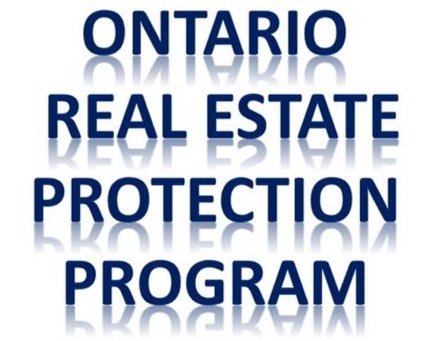 Ontario Real Estate Protection Program (CNW Group/Real Estate Advisors Inc)