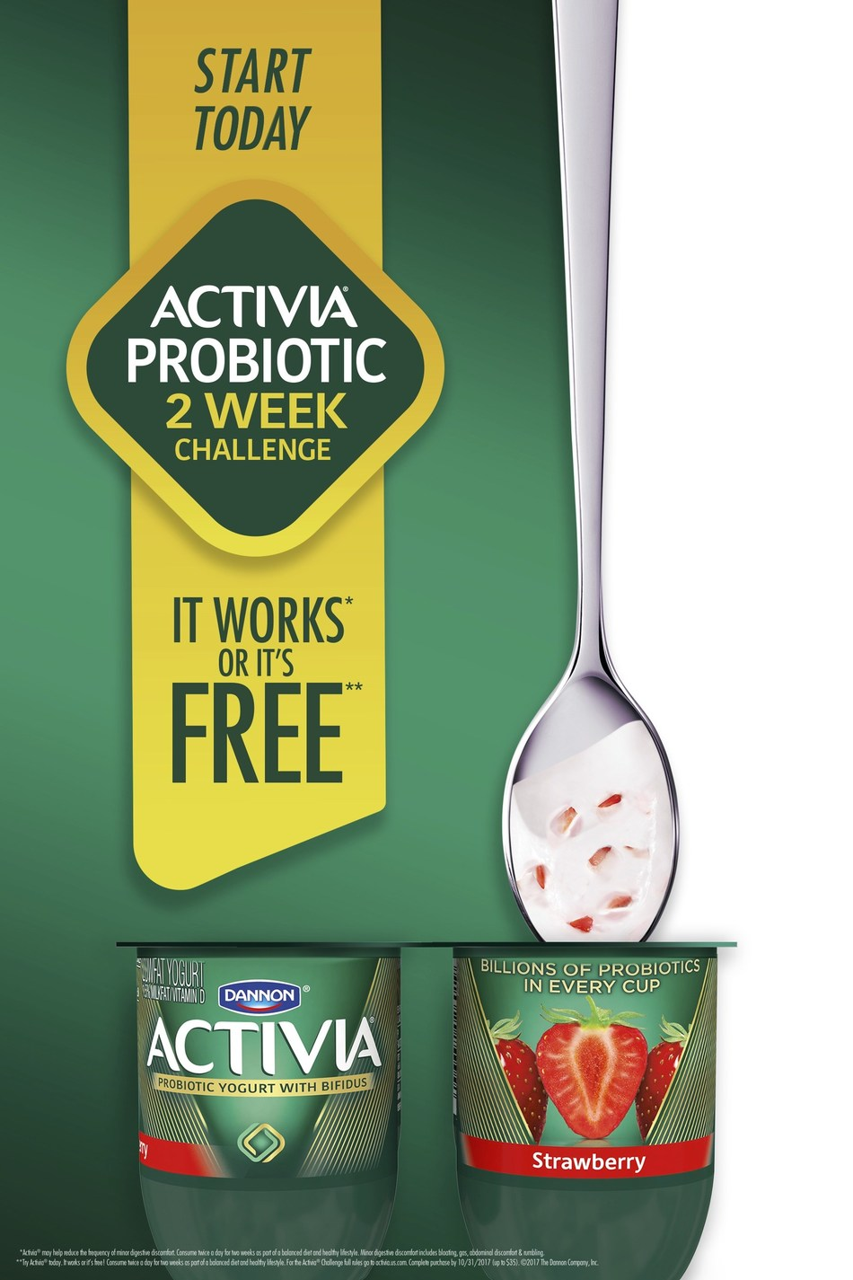 Activia launches the Probiotic Two Week Challenge to help people integrate probiotics into their daily routine.