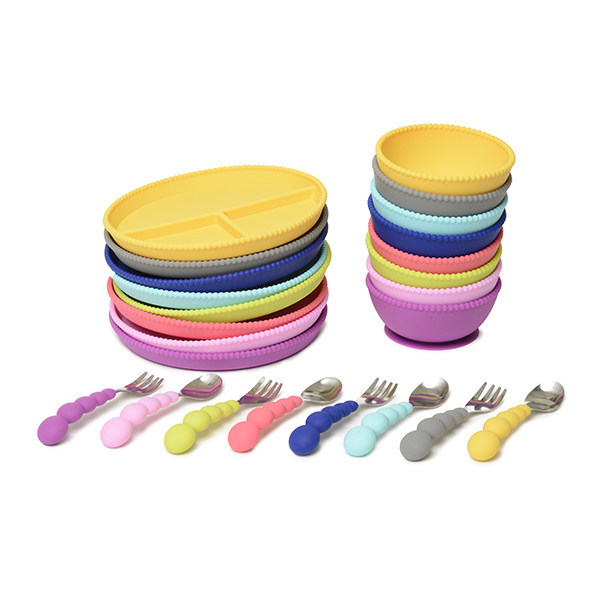 Stylish new silicone place settings for baby