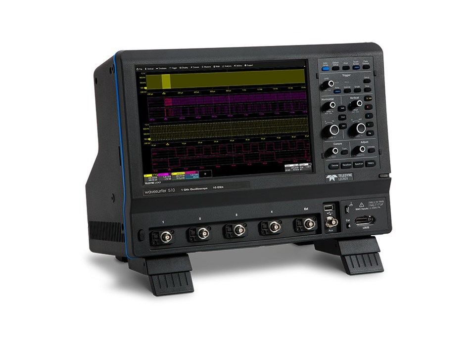 The WaveSurfer 510 Oscilloscope provides uncompromised 1 GHz performance with up to 10 GS/s per channel and 32 Mpts of memory.