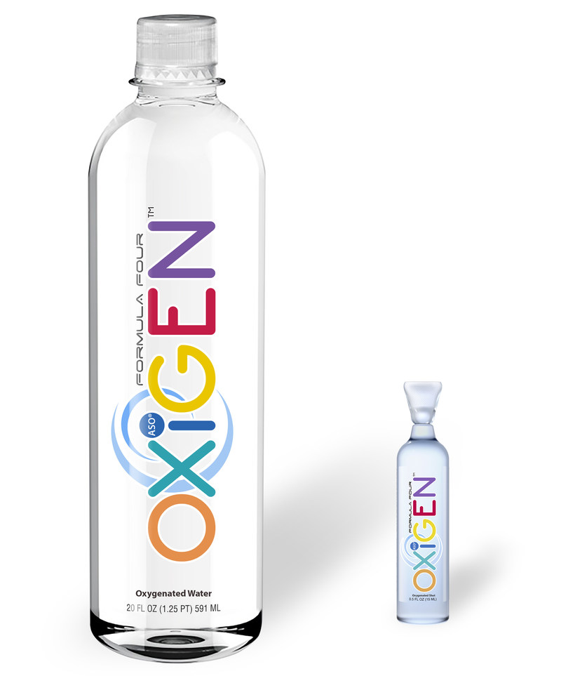 OXiGEN products contain a highly stable O4 oxygen molecule. OXiGEN water has 100 times more oxygen than regular bottled water, while OXiGEN shot is a highly concentrated version, with five times that amount.