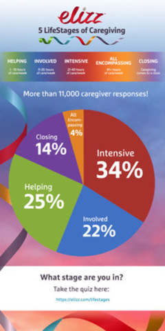 The Elizz 5 LifeStages of Caregiving® builds awareness of the role of family caregivers and helps them succeed at every stage of their journey. (CNW Group/Saint Elizabeth Health Care)