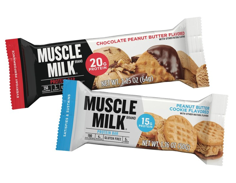 New MUSCLE MILK(R) protein bars launch nationwide with 12 ice cream inspired flavors and include either 15 or 20 grams of high quality protein.