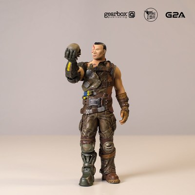 Hand-painted and 3D-printed figurine of Bulletstorm character Ishi Sato. (PRNewsFoto/G2A.com)