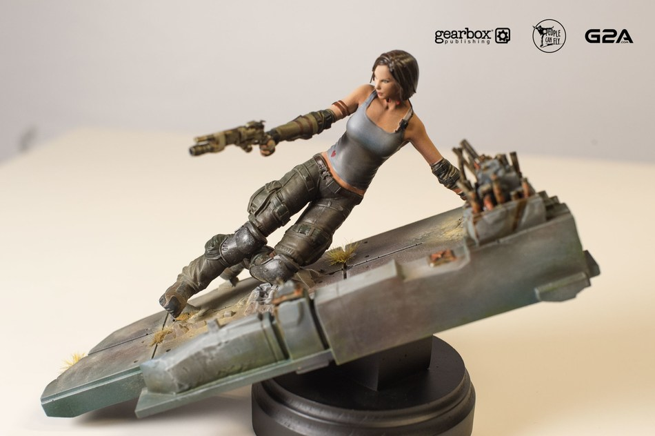 Hand-painted and 3D-printed figurine of Bulletstorm character Trishka Novak. (PRNewsFoto/G2A.com)