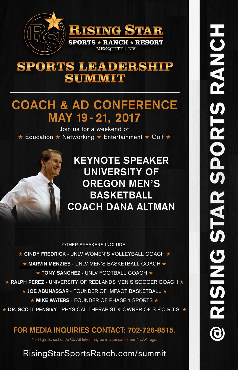 Sports Summit featuring University of Oregon Coach Dana Altman