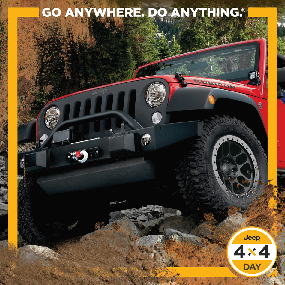 The Jeep brand celebrates 2nd annual #Jeep4x4Day on April 4 (2017) with custom Snapchat lens, social campaign.