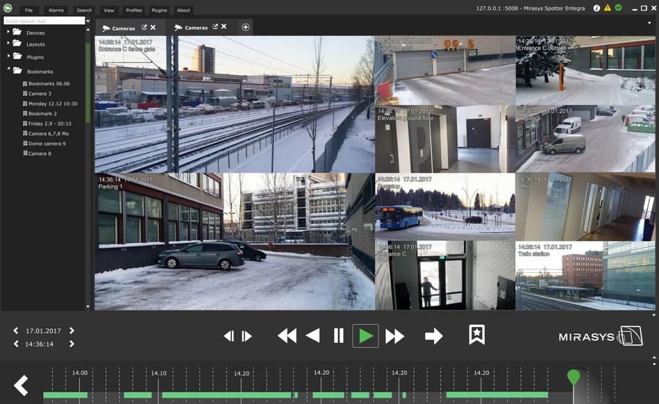 Mirasys VMS V8 Entegra User Interface (PRNewsFoto/Mirasys)