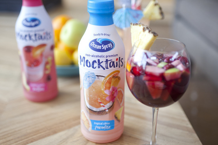 Enjoy a Mocktail moment with Ocean Spray's latest innovation: ready-to-drink premium non-alcoholic juice drinks inspired by your favorite cocktails. For more information, visit www.oceanspray.com.