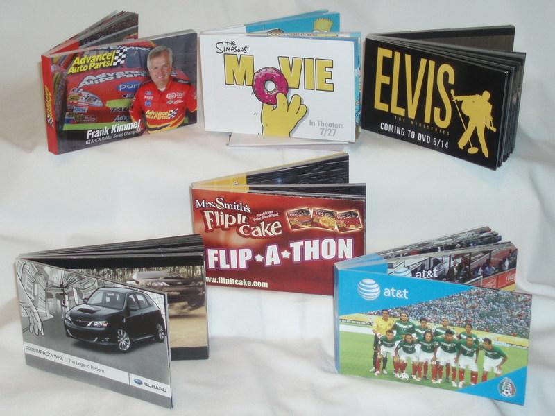 Custom flip books produced for 20th Century Fox, Subaru, AT&T, Advance Auto Parts, and STARZ.