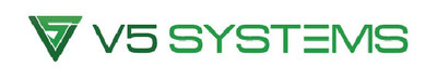 V5 Systems White Logo