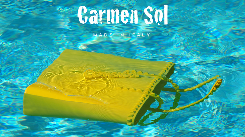 CARMEN SOL Launches a Made in Italy Luxury Jelly Accessories Collection - Featuring Rose Scented Charm Tote