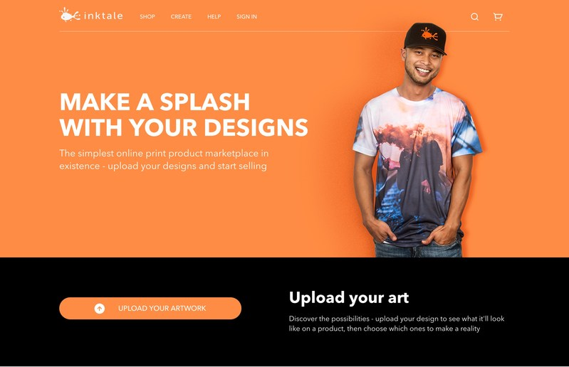 Inktale - the simplest online print product marketplace in existence.
