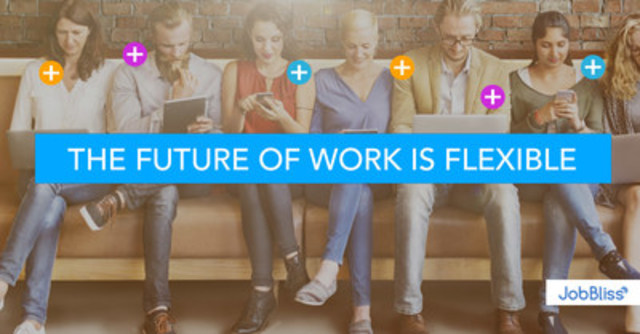 The Future of Work requires flexibility. Companies need to be more agile than ever to stay competitive, requiring flexible, specialized talent. Freelancers want to build viable careers by finding more work. JobBliss removes the costly middleman, making these company-contractor interactions easy, affordable, and efficient. (CNW Group/JobBliss Inc.)