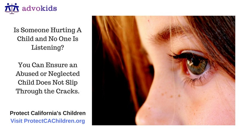 Is Someone Hurting A Child And No One Is Listening? Take Steps To Ensure An Abused Or Neglected Child Does Not Slip Through The Cracks. Visit ProtectCAChildren.org