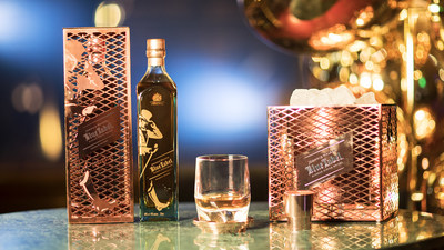 The Johnnie Walker Blue Label Capsule Series by Tom Dixon includes a limited edition bottle design, ice bucket, coaster and bottle cap and is inspired by the rarity, craft and heritage of Johnnie Walker Blue Label (PRNewsFoto/Johnnie Walker)