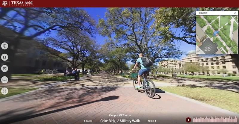 Xplorer Virtual Tour - 360 Video - Texas A&M Campus