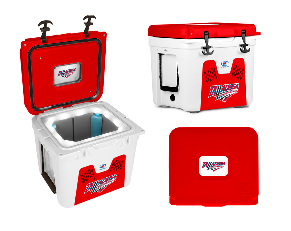Nothing better than tailgating at Talladega Superspeedway with your LiT  HALO TS-400 32-quart cooler keeping drinks cold in that Alabama heat. And when it gets dark, LiT's patented Night-Sight LED liner makes it easy to see and grab that next cold one.