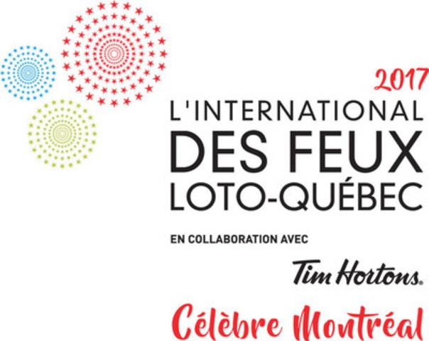 Logo : L'International des Feux Loto-Québec  2017 (Groupe CNW/La Ronde)