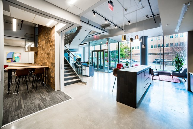 The Columbus Serendipity Labs will be similar to the Bethesda location. Shown here, the cafe, coworking, desk and ideation studio of the Serendipity Labs in Bethesda. (Photo: Serendipity Labs, Bethesda, MD)