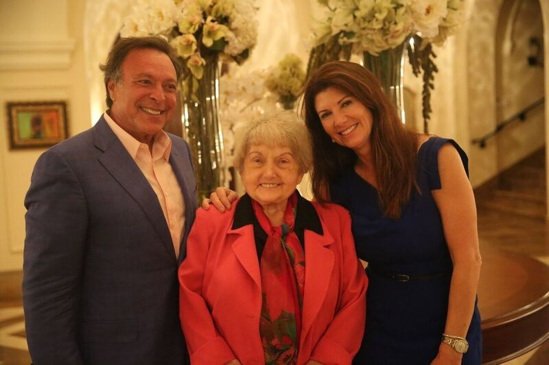 Mike and Constance Fernandez with Eva Kor