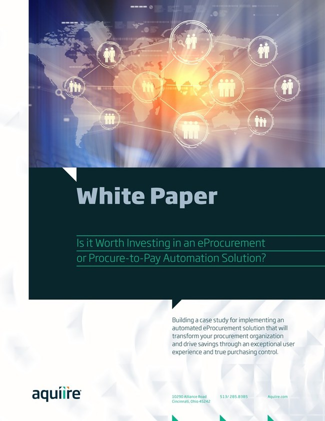 Download Aquiire's white paper that offers tips and advice for building a case study for implementing an automated eProcurement solution that will transform your procurement organization and drive savings through an exceptional user experience and true purchasing control.