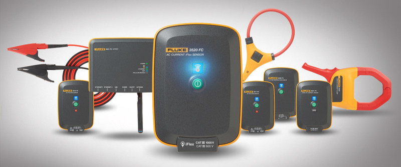 The Fluke Condition Monitoring system consists of wireless sensors, a gateway that can receive signals from the sensors up to 30 feet away, and familiar Fluke technologies, such as iFlex current probes, current clamps, and temperature sensors. The system can be set up by maintenance technicians and monitoring can begin in a matter of minutes.