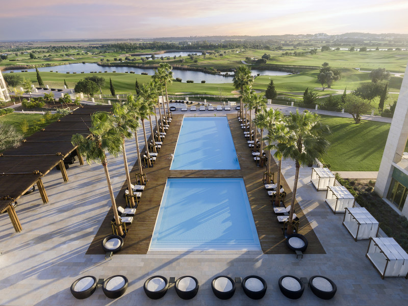 A Bird's Eye View of the Resort's Main Swimming Pool