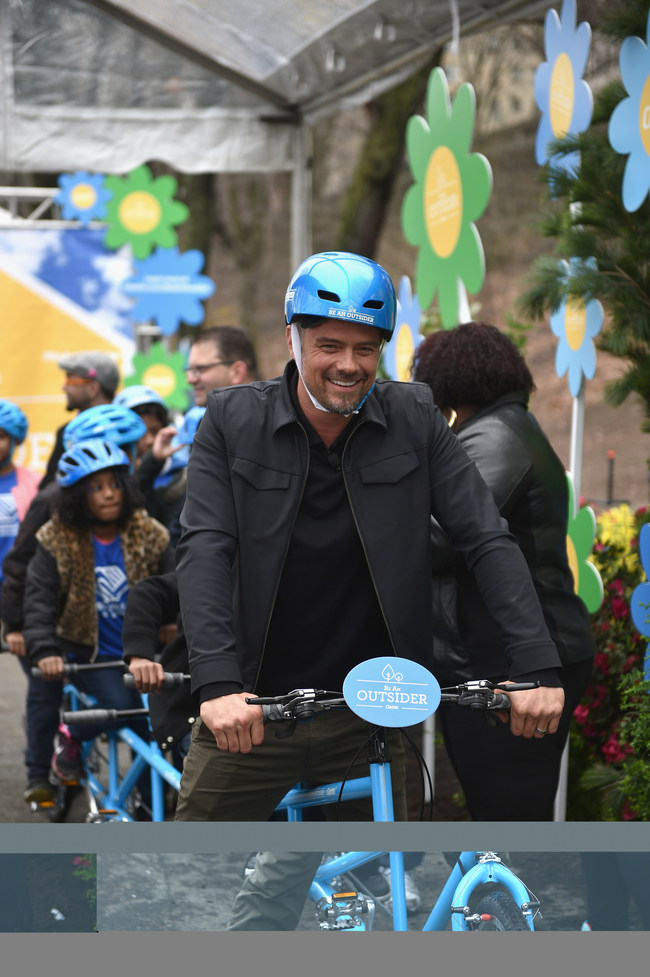 """Josh Duhamel Rolls Onto the Scene to Launch Claritin's """"Be An Outsider"""" campaign to benefit Boys & Girls Clubs of America."""