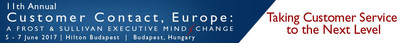 Customer Contact Leader from Europe's #1 Tourism Business to be Keynote Speaker at 11th Annual Customer Contact, Europe: A Frost & Sullivan Executive MindXchange