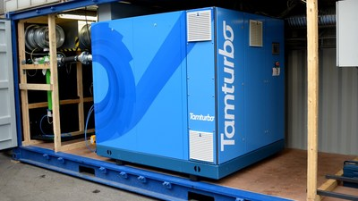 Tamturbo  TT185 customer reference compressor at the food processing plant in Finland (PRNewsFoto/Tamturbo Oy)