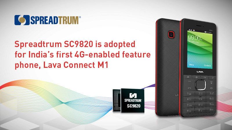 Spreadtrum SC9820 is adopted for Lava Connect M1