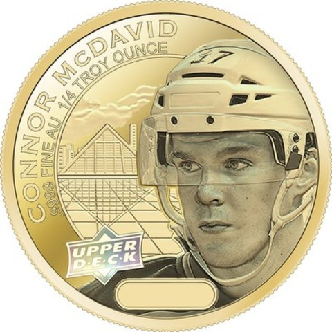 Limited-Edition Connor McDavid Gold Coin (CNW Group/CIBC World Markets)