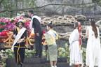 В ходе ежегодного весеннего ритуала вода, привезённая из различных уголков земного шара, была вылита в китайскую реку Миньцзян