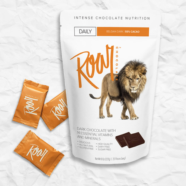 Each 8oz bag provides nearly a one month supply. Each 9g square is individually-wrapped for portion control.
