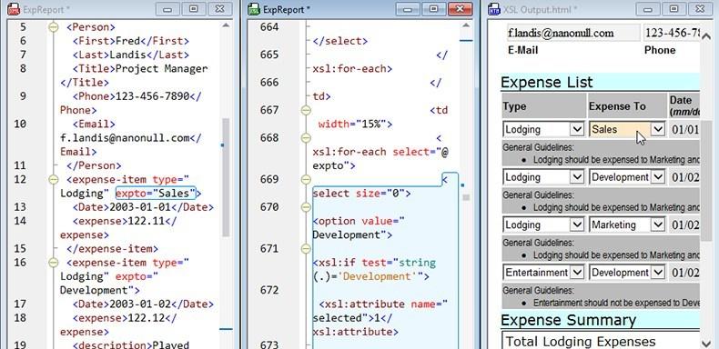 XSLT back-mapping in XMLSpy
